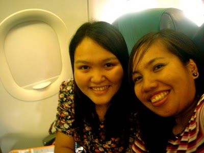 My seatmate, Babes, who was very supportive in documenting this trip for me.